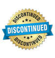 discontinued round isolated gold badge vector image vector image