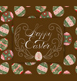 easter eggs pattern ornament with an vector image vector image