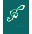 emerald flowerals gclef musical silhouette vector image vector image