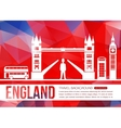 England travel background with place for text vector image vector image