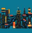 evening metropolis vector image vector image