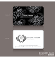 Floral Vintage Elegant Business cards Design vector image