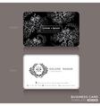 Floral Vintage Elegant Business cards Design vector image vector image