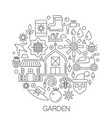 garden in circle - concept line for vector image vector image