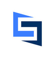 geometric letter s initial logo vector image vector image
