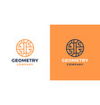 geometric logotype template positive and negative vector image