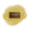 gold glitter sparkles on white background vector image