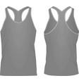 grey sleeveless t shirt vector image vector image