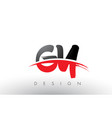 gy g y brush logo letters with red and black vector image vector image