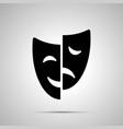 happy and sad drama mask silhouette simple icon