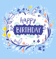 Happy birthday beautiful floral card vector image vector image