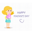 Happy teacher day card vector image vector image