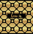 invitation card with gold heart vector image vector image