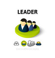 Leader icon in different style vector image vector image
