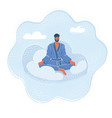 man relax on clouds vector image vector image