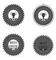 medal best prize and first place on a white vector image vector image