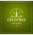 Merry Christmas Greetings Card or Poster Design vector image vector image