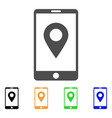 mobile gps icon vector image vector image