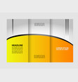 modern tri-fold template for advertising concept b vector image vector image