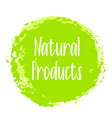 natural products icon package label vector image