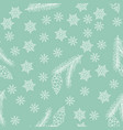new year and christmas background with snowflakes vector image