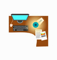 office workplace decor on vector image vector image
