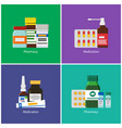 pharmacy and medication color banners collection vector image vector image