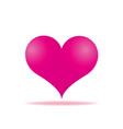pink heart arrows piercing icon vector image vector image
