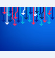 sale arrow banner price reduction background vector image