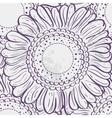 Seamless texture stylized sunflowers purple vector image vector image