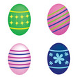 set of easter eggs on white background vector image vector image