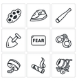 Set of Slavery Icons Beatings Torture vector image vector image
