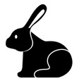 side view of a rabbit vector image