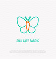 silkworm line icon symbol of silk late fabric vector image vector image