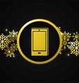 smartphone gift cartoon vector image vector image