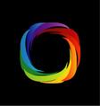 spectrum visible light- color wheel design vector image vector image