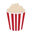 striped popcorn bag icon vector image