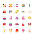 summer and holidays icons 17 vector image vector image