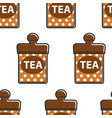 tea singapore food metal container seamless vector image vector image