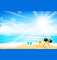 the starfish is wearing sunglasses 001 vector image vector image