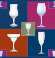 wine glass seamless pattern drink wine background vector image vector image