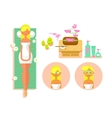 Woman spa concept vector image