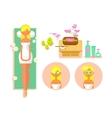 Woman spa concept vector image