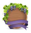 barrel grape purple ribbon vector image