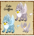 Set of three griffons vector image