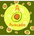 avocado sketch background for recipe vector image vector image