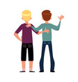back view portrait of boys men best friends vector image