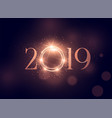 beautiful glowing 2019 shiny background vector image vector image