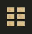 beige gold luxury business cards set for vip event vector image vector image