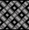 black woven seamless background tile vector image